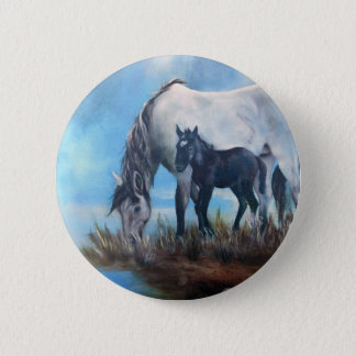 Mustang Morning 6 Cm Round Badge