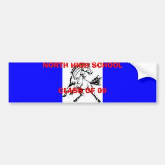 MUSTANG, NORTH HIGH SCHOOL CLASS OF 09 BUMPER STICKER