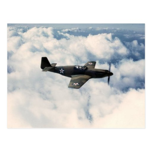 Mustang P-51 Fighter Postcard