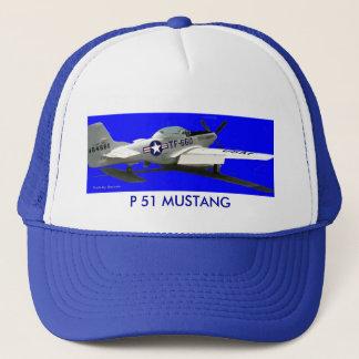 Mustang Portrait, P 51 MUSTANG Trucker Hat