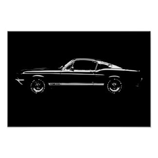 Mustang to car poster