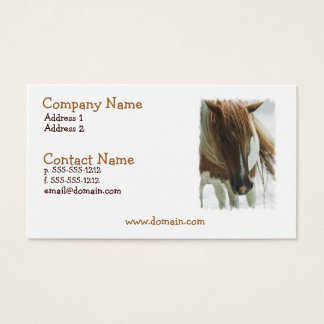 Mustang Wild Horse Business Card