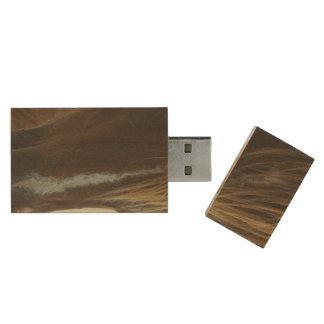 Mustang Wild Horse Wood USB 2.0 Flash Drive