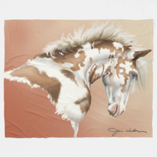 Mustang Wild, Small to Large Fleece Blanket