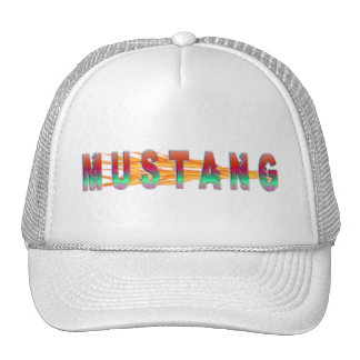 Mustang With Flames Cap