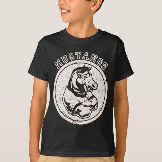 Mustangs mascot for Dark Apparel T-Shirt