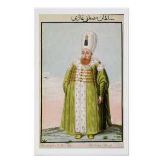 Mustapha I (1591-1639) Sultan 1617-18, 1622-23, fr Posters