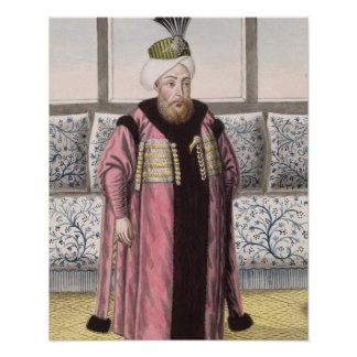 Mustapha II (1664-1703) Sultan 1695-1703, from 'A Poster