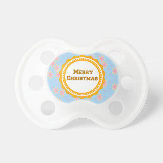 Mustard Baby's First Merry Christmas  Pacifier