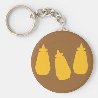 Mustard Bottles Keychain