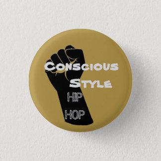 Mustard Conscious Style Hip Hop button