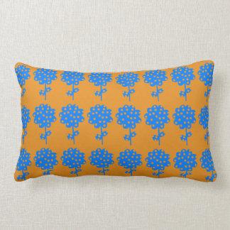 Mustard Floral Lumbar Cushion