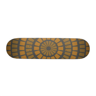 Mustard Geometric Skateboard