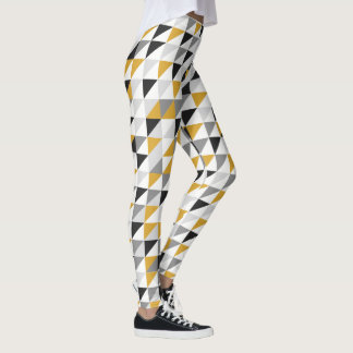 Mustard, Gray, Black Leggins Leggings