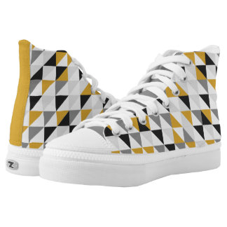 Mustard, Gray, Black Zipz High Top Shoes