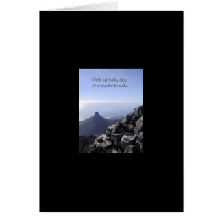 Mustard Seed Faith Blank Greeting Card