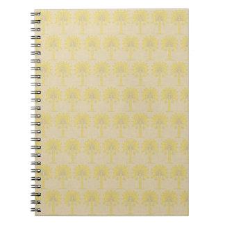 Mustard Spice Moods Palm Spiral Note Book