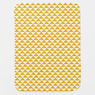 mustard triangles baby blanket