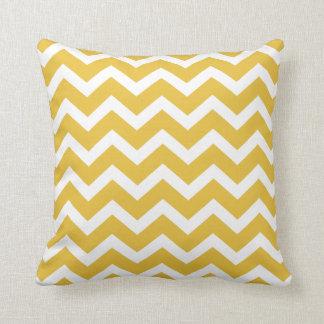 Mustard Yellow Chevron Stripe Pillow Throw Cushions