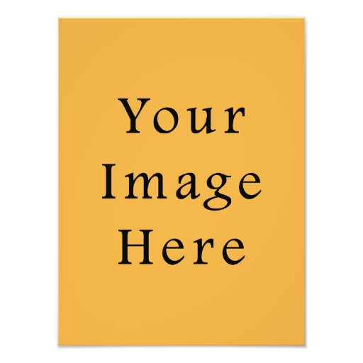 Mustard Yellow Color Trend Blank Template Photographic Print