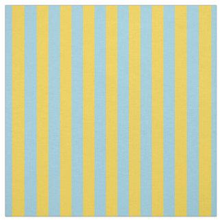 Mustard Yellow Light Blue Stripe Fabric