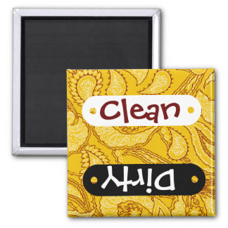 Mustard Yellow Paisley Print Summer Fun Girly Magnet