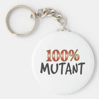 Mutant 100 Percent Basic Round Button Key Ring