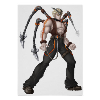 Mutant Anime Hero Poster