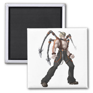 Mutant Anime Hero Square Magnet
