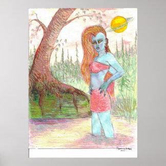 Mutant Anna Anastasia Enamel, Art Signature Poster
