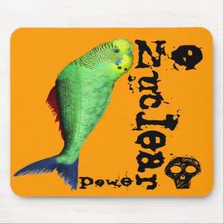 Mutant Bird Fish - Stop Nuclear Madness Mouse Pads