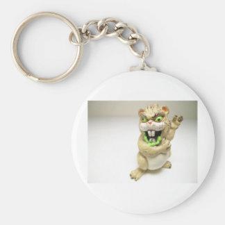 mutant chipmunk basic round button key ring
