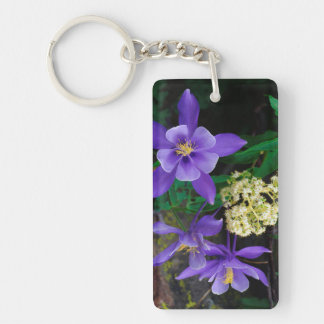 Mutant Columbine Wildflowers Double-Sided Rectangular Acrylic Key Ring