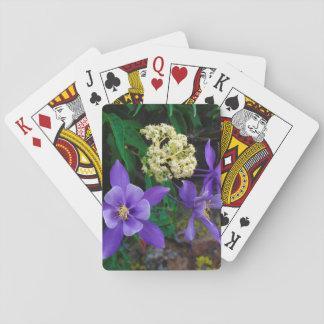 Mutant Columbine Wildflowers Playing Cards