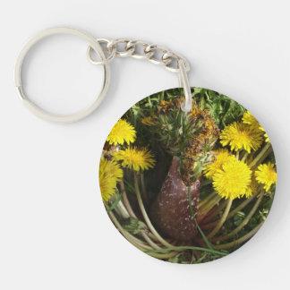 Mutant Dandelion Double-Sided Round Acrylic Key Ring
