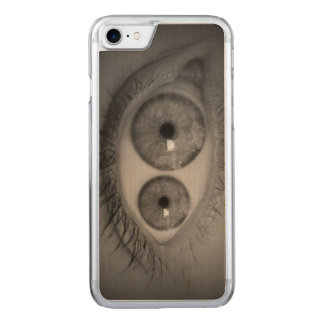 Mutant Eye iPhone 6 Wood Carved iPhone 8/7 Case