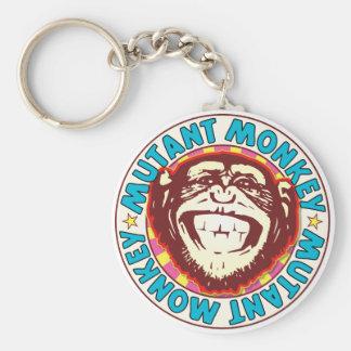 Mutant Monkey Basic Round Button Key Ring
