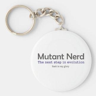 Mutant Nerds Basic Round Button Key Ring