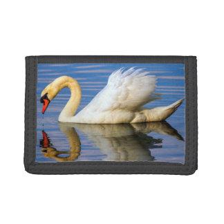 Mute swan, cygnus olor trifold wallet