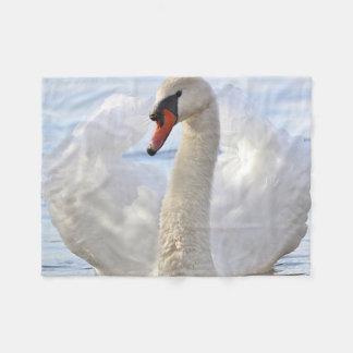 Mute Swan Fleece Blanket
