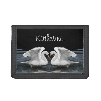 Mute Swan Mirror Image - Personalize Template - Tri-fold Wallet