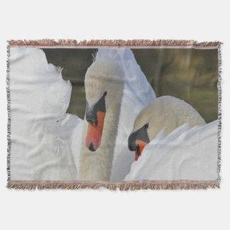 Mute Swan Pair Throw Blanket