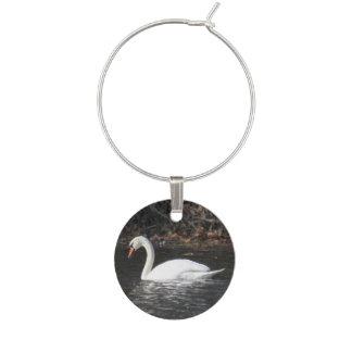 Mute Swan Wine Charm
