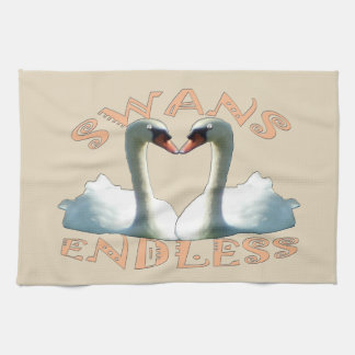 Mute Swans Endless Tea Towel