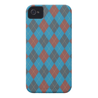 Muted Blue and Orange Argyle BlackBerry Case