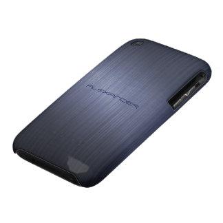 Muted Blue Metallic Look Pattern-Monogram iPhone 3 Case-Mate Case