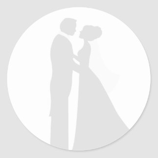 Muted Bride and Groom Wedding Seal