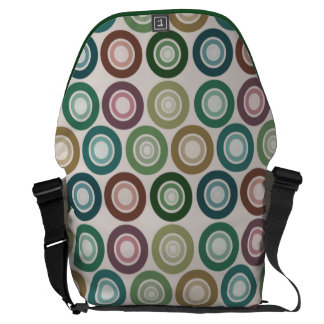 Muted Color Retro Circle Pattern Courier Bags