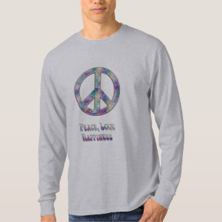Muted Colours Peace Love Happiness Shirt