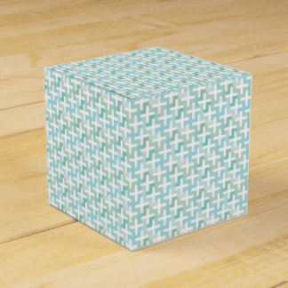 Muted Green Plus Sign Cross  Pattern Favor Box Party Favour Boxes